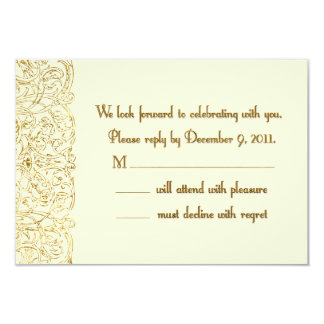 Custom Reply Shelley 9 Cm X 13 Cm Invitation Card