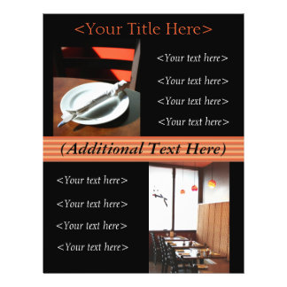 Custom Restaurant Advertisement / Menu Flyer