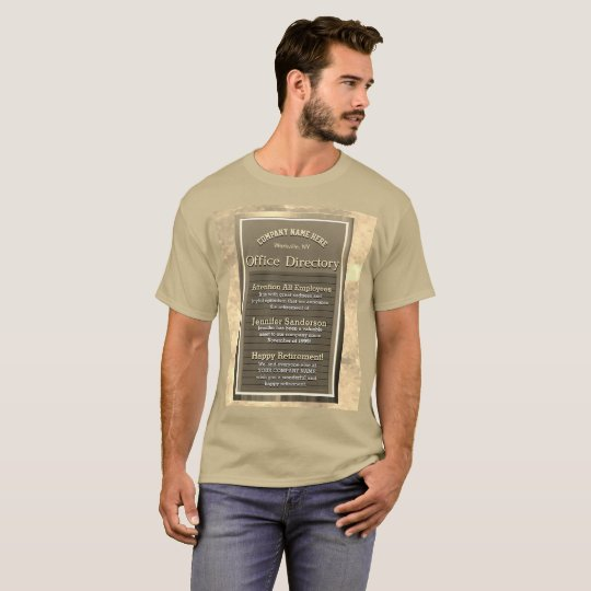 Custom Retirement Message Sign Vintage Look T-Shirt