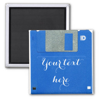 Custom Retro Computer Floppy Disk 3.5 Square Magnet