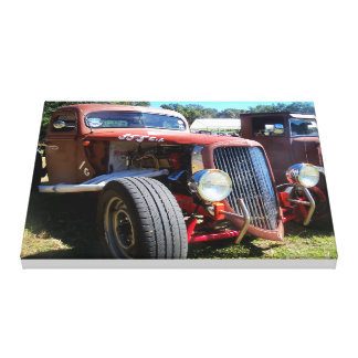 Custom Retro Funny Race Stock Car Wrapped Canvas Gallery Wrapped Canvas