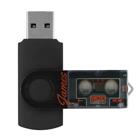 Custom Retro Micro Cassette Audiotape Personalised USB Flash