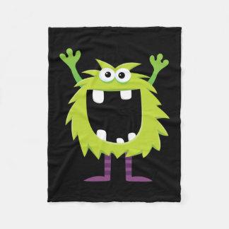 Custom Retro Monster Fleece Blanket