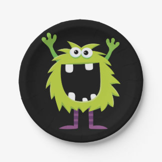 Custom Retro Monster Paper Plate