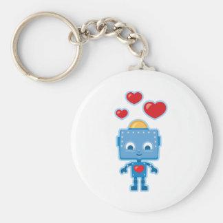 Custom Retro Robot Art Personalized Key Ring