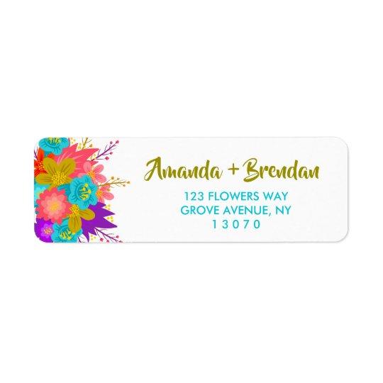 Custom Return Address Labels with flowers