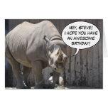 Custom Rhino Greeting Card