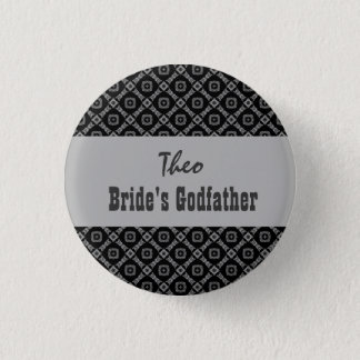 Custom Role Wedding Pink in Black White Silver 3 Cm Round Badge