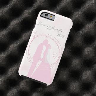 Custom Romantic Dreamy Pink Wedding Couple Tough iPhone 6 Case