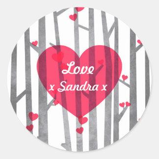 Custom Romantic Forest Sticker