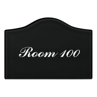 Custom room signs with your own number and color door sign