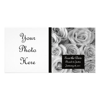 Custom Roses Save the Date Photo Card