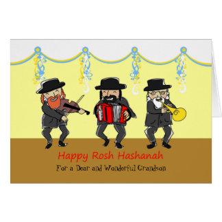 Custom Rosh Hashanah for Grandson, Klezmer Band Card
