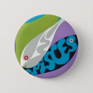 Custom Round Button/Pisces-Zodiac 6 Cm Round Badge