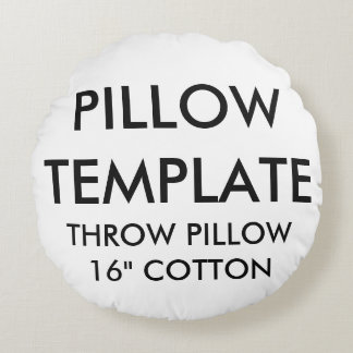Custom Round Grade A Cotton Throw Pillow Template
