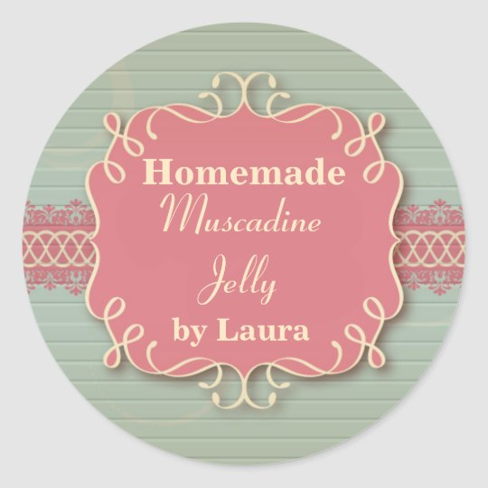 Custom Round Homemade Country Jelly Label Sticker