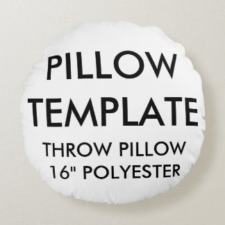 Custom Round Polyester Throw Pillow Blank Template