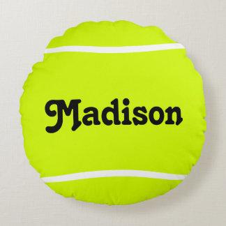 Custom Round Tennis Ball Pillow for Tennis Players
