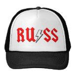 custom RUSS rock and roll shirt Hats