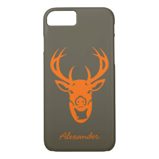 Custom Safety Orange Trophy Deer Hunting iPhone 7 Case