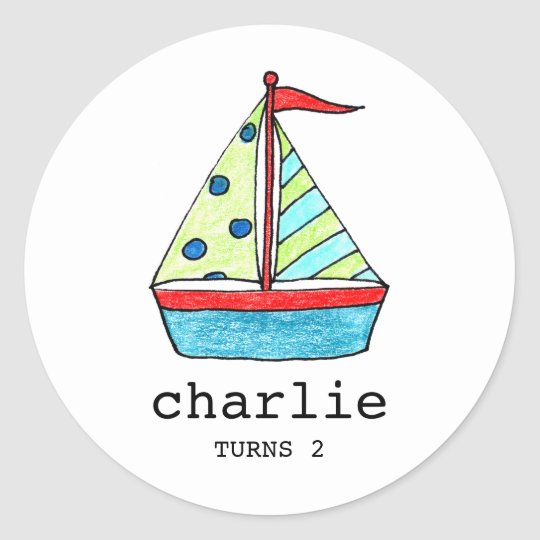 Custom Sailboat Stickers | Cake Toppers