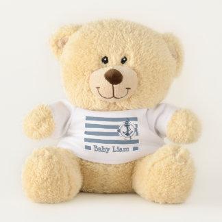 Custom Sailor Stripes Teddy (For Boys) Teddy Bear