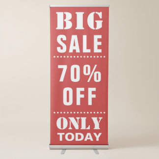 Custom Sale Announcement Retractable Banner