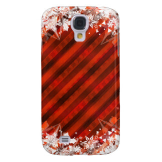 Custom Samsung Case - Holiday Red w/Snowflakes Samsung Galaxy S4 Cover