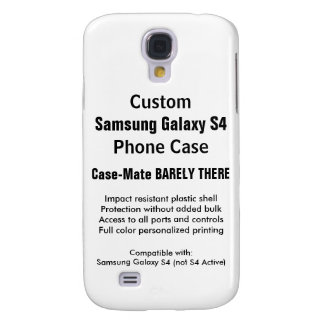 Custom Samsung Galaxy S4 Barely There Phone Case Galaxy S4 Case