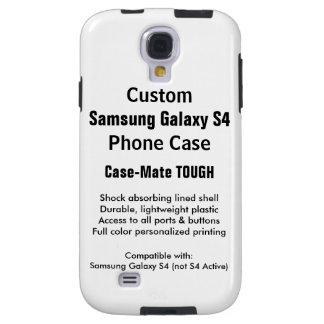 Custom Samsung Galaxy S4 Tough Phone Case Galaxy S4 Case