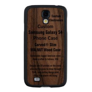 Custom Samsung Galaxy S4 Walnut Wood Phone Case Carved® Walnut Galaxy S4 Case