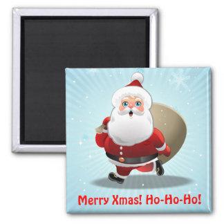 Custom Santa Claus Refrigerator Magnet