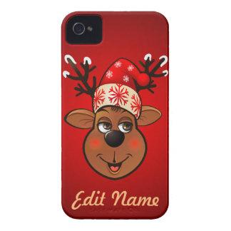 Custom Santa Claus's Reindeer iPhone 4 Case-Mate Cases