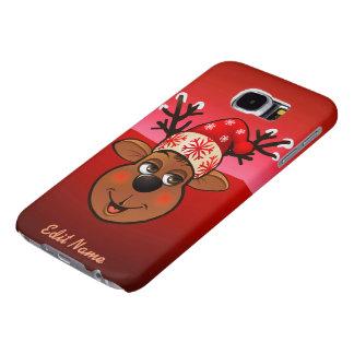 Custom Santa Claus's Reindeer Samsung Galaxy S6 Cases