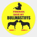 Custom Save My Bullmastiffs Sticker