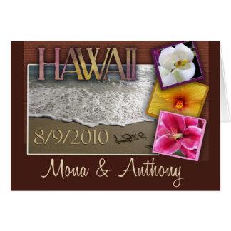 Custom Save the Date - Hawaii style Greeting Card