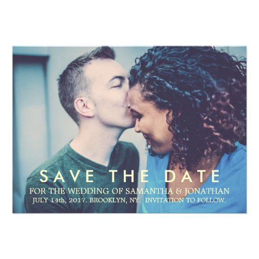 Custom Save the Date Modern Wedding Card