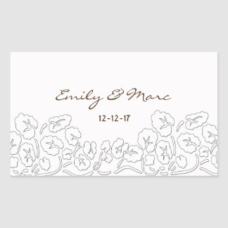 Custom Save the Date Rectangle Stickers