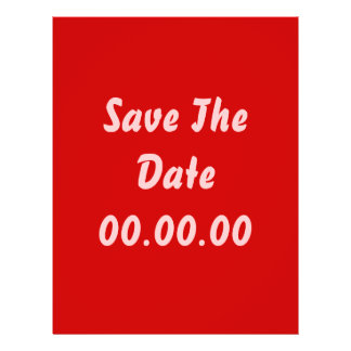 Custom, Save The Date. Red and Pink 21.5 Cm X 28 Cm Flyer