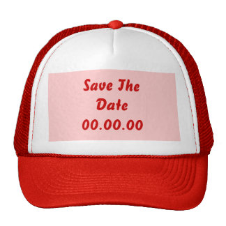 Custom, Save The Date. Red and Pink Cap