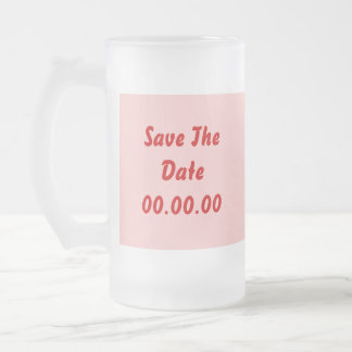 Custom Save The Date Red and Pink Mugs