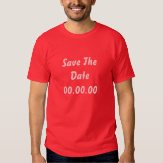 Custom, Save The Date. Red and Pink T-Shirt