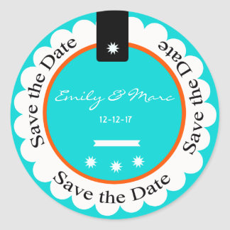 Custom Save the Date Round Stickers