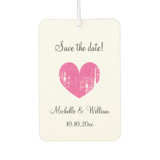 Custom save the date wedding car air freshener