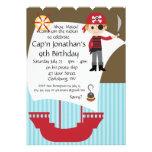 Custom Savvy Pirate Birthday Party Invitations
