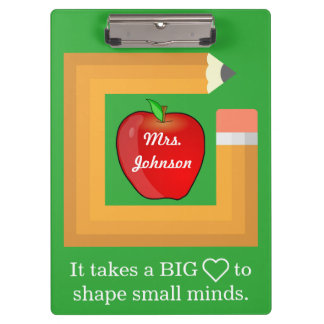 Custom School Teacher's Quote Personalized Teacher Clipboard