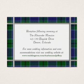 Custom Scott Plaid Wedding Enclosure Card
