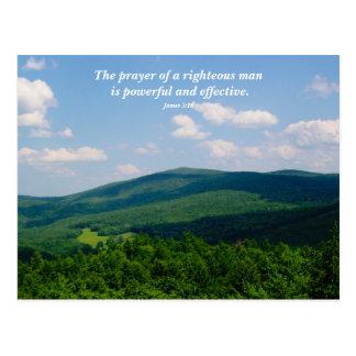 Custom Scripture Praying For You Christian Postcard