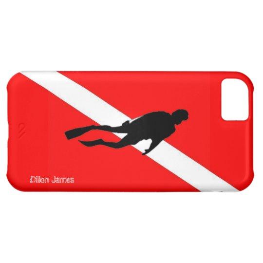 Custom Scuba Diver Flag Art iPhone Case