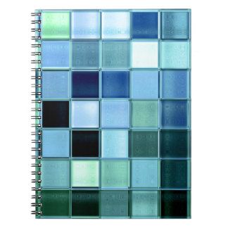 custom Sea Glass Mosaic  square pattern notebook